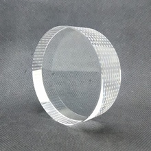 Hot sales K9 material 3D engraved crystal transparent round crystal