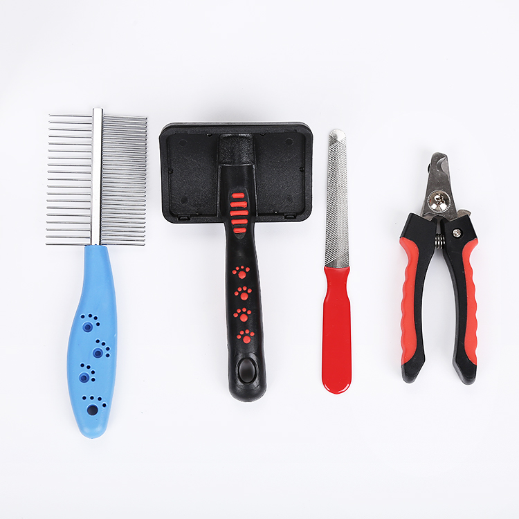<strong>Pet</strong> grooming set with brushes,comb,nails scicssors for dog