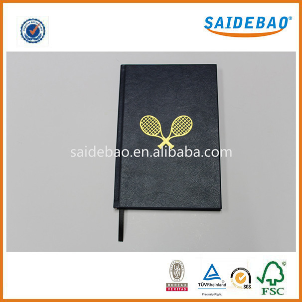A5 pu leather hardcover notebook,custom notebook logo with pu cover