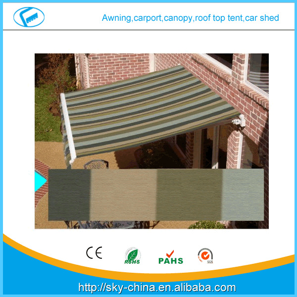 High quality European style rain protection awning for windows(remote control) Prefab Electric Retractable door entrance awning