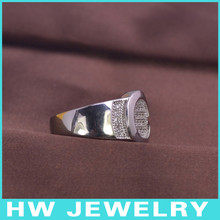 LMR3264 Men Ring turquoise white gold ring