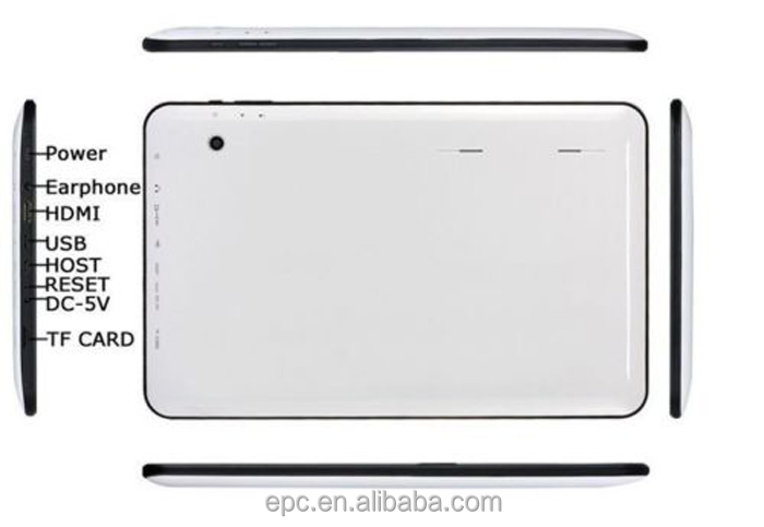 2016 Best selling products android 5.1 tablet Quad Core,allwinner A64 tablet 10inch