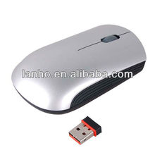 2.4G Wireless USB Optical Mouse With Mini Receiver Silver Plug And Play