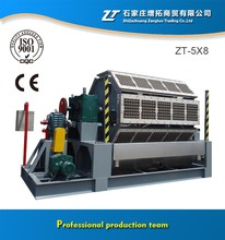 Waste paper pulp production line and egg tray forming machine
