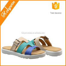 Ladies colorful buckle ornament bushes insole flip flop zori sandals