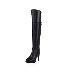 2017 Wholesale China Leather Boots Sexy Platform Top Quality Women Long Boots