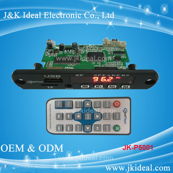 JK-P5001 5v OEM mp5 fm car dvd usb sd audio player circuit board