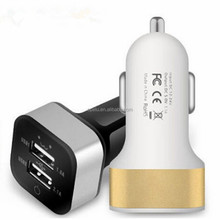 Square 2 Port 5V 2.1A 1A Dual USB Car Charger For Phone iphone