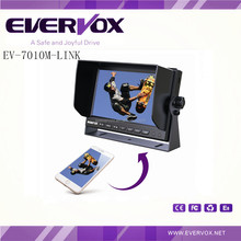 7 inch High Definition Monitor Built-in Mirror link And with 1 auto reverse trigger wire
