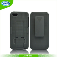 Fashion style shockproof high impact plastic holster case for iphone 5
