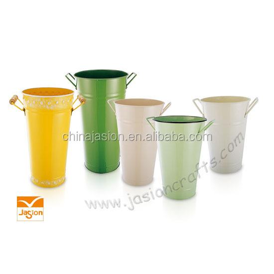 Metal Flower Pot Horticultural Activities Flower pot &home metal flower bucket pot planters garden