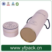 cardboard tube metal bottom wine paper canister