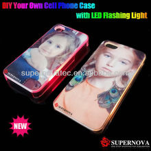 The Latest Sublimation Phone Cover Case with LED Flash Light for iphone4/4s