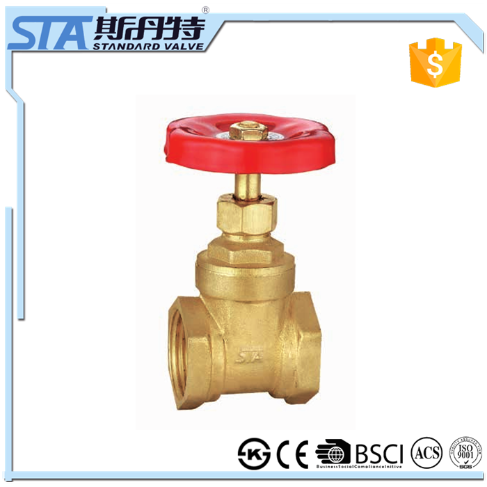 ART.4013 200 WOG Forged 1/4 1/2 1 2 3 4 inch Brass Gate Valve, Potable Water Service, Non-Rising Stem, Inline, Female Npt Thread