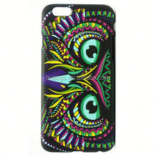 Wholesale Animal World Owl pattern back case luminous pc case for iPhone 6S Plus cell phone