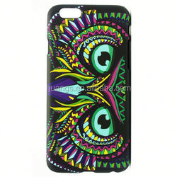 Wholesale Animal World Owl pattern back case luminous pc case for iPhone 6 plus cell phone
