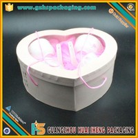 custom fashion heart-shaped decorative cardboard gift boxes clear lid wholesale