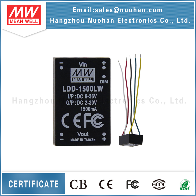 UL CE EMC approved meanwell ldd-1500lw step-down constant current led driver 1500ma