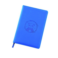 plain and secure sewn binding pu notebook leather cover color random