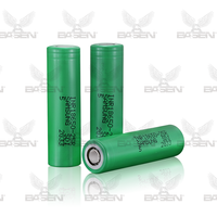original samsung 1850 3.7v 25r 2500mah li-ion samsung 25r rechargeable batteries 18650 Li-ion 25R Cylindrical Battery for 25r