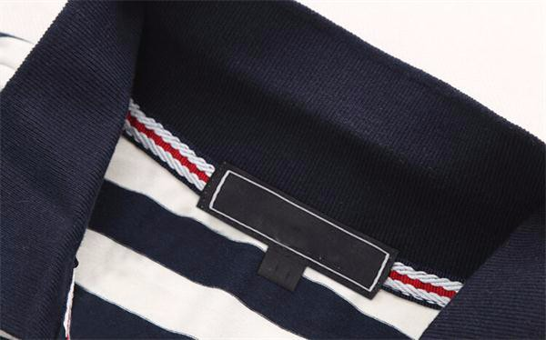 100% polo t-shirt black and white mens polo collar striped t shirt design