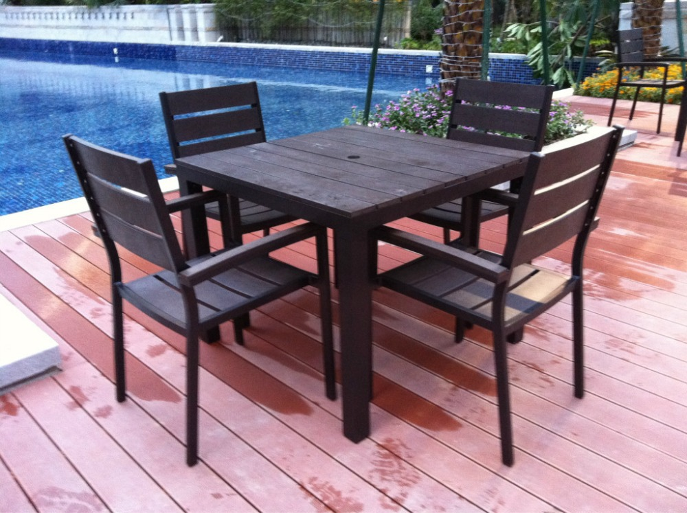Plastic patio furniture modern patio outdoor Synthetic wood patio furniture