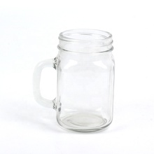 wholesale clear 300ml 450ml 500ml 600ml <strong>glass</strong> mason jar drink <strong>glass</strong> candle <strong>glass</strong> with handle
