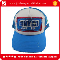 High quality cotton printing and embroidery mesh cap 6 panel embroidery sports baseball cap