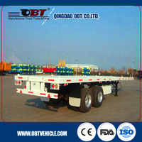 2 axle 20ft container frame skeleton semi trailer chassis for sale