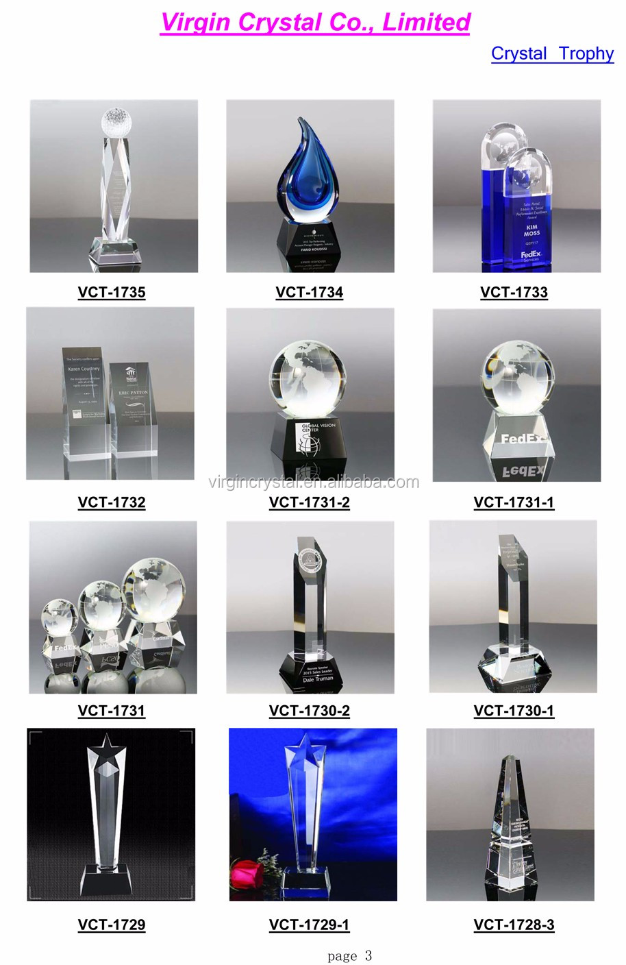 Exquisite crystal golf trophy with clear base for sports awards winners