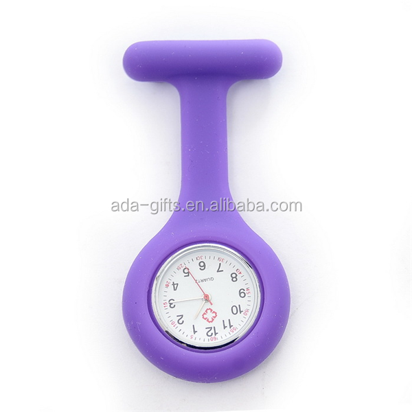 Custom logo hot silicone nurse doctor watch with japan movt