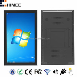 "HQ550-C1-T 55""Vertical IR Capacitive Multi Touch 4K wall hanging smart wifi all in one computers"