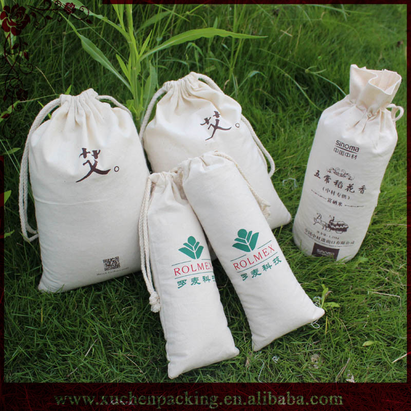 Made In China Fancy Lovely Customized Organic Cotton Gift Jewelry Bags Manufacturer