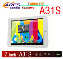 New arrival 7inch Quad core A31s RK3188 Google Android 4.4 OS a8 1gb DDR 8gb HDD camera bluetooth wifi gps tablet pc