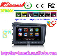 DH8006 Car DVD Player For Honda Civic 2012 with GPS Bluetooth Phonebook ipod Steering Wheel Control