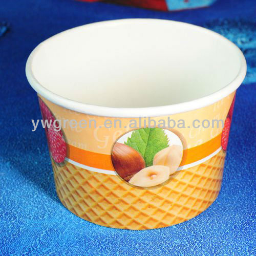 food grade nature ice cream cup,paper cup ice cream,yiwu green cup paper
