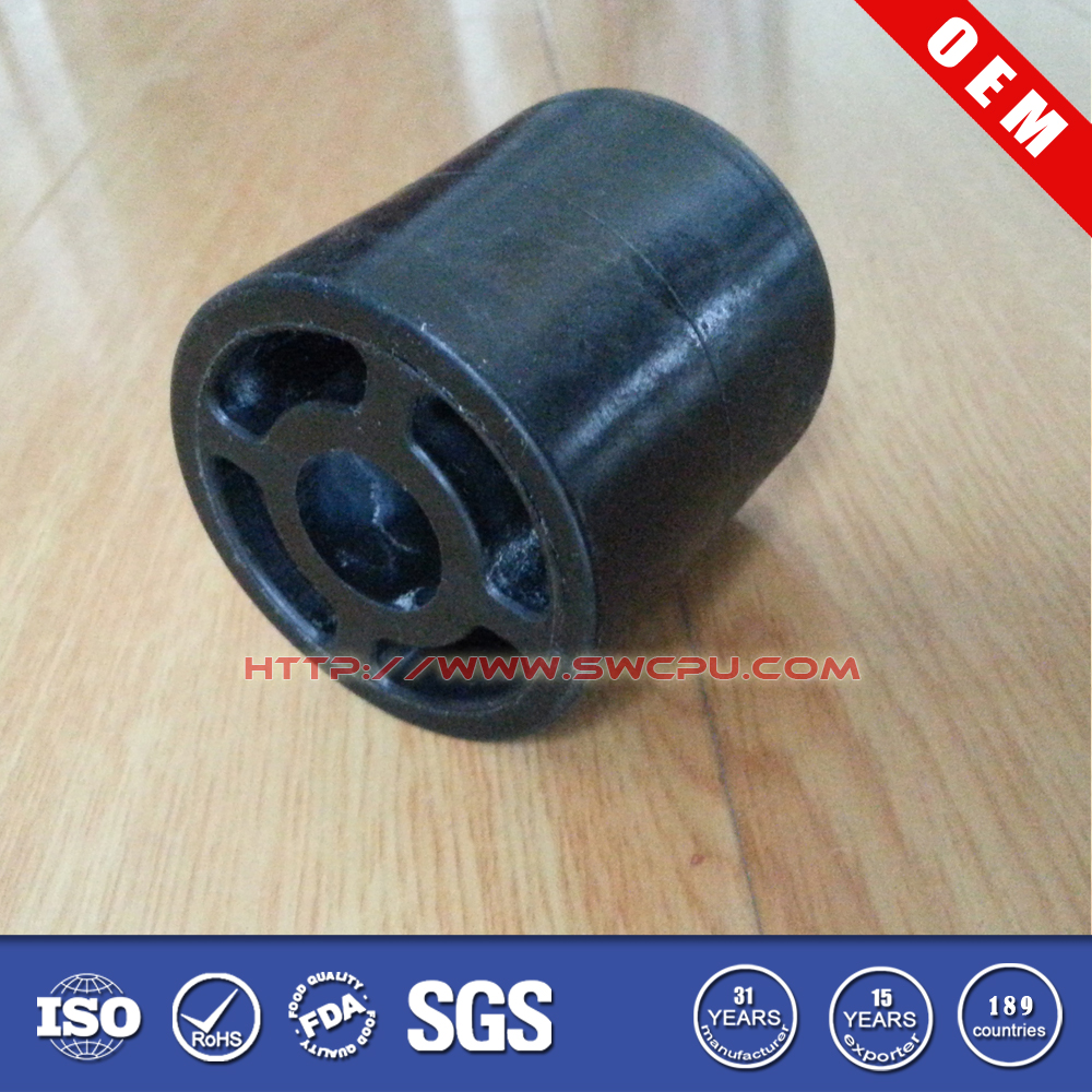 3 inch Molded solid NR Rubber roller wheel