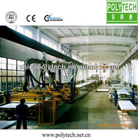 Plastic construction formworks extrusion machine/line
