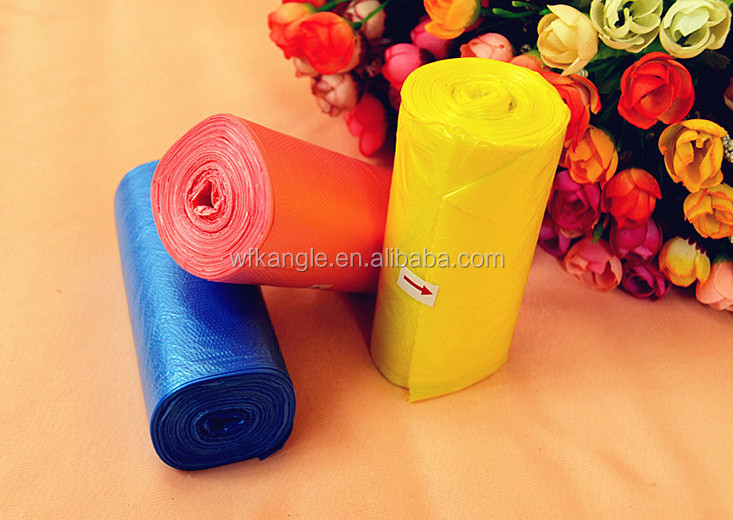 Wholesale hdpe/ldpe plastic colored garbage bags trash bags