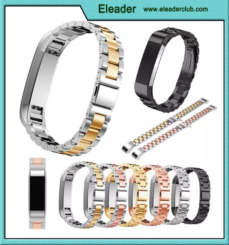 Stainless Steel Metal Bands for Fitbit Alta, Silver, Rose Gold, Black, 6 Styles for Men and Women, Replacement Accessories