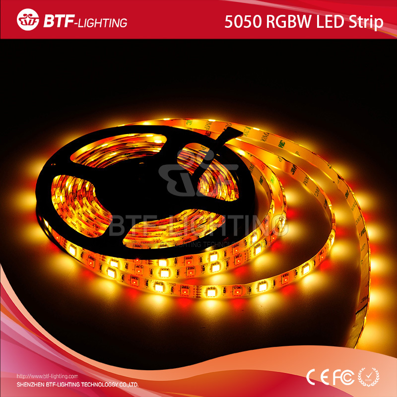 5m 5050 RGBW White PCB led strip 60leds/m RGB+Warm White Waterproof IP65 DC12V with 2.4G touch screen RF remote