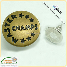 custom dome shape metal jeans button for denim