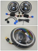 7'' LED head light with colorful ring for 2007-2013 Jeep Wrangler