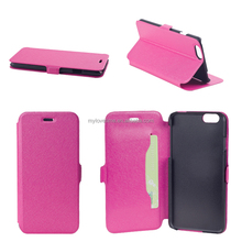 Hot Pink ultrathin stand leather smart case for iphone 6