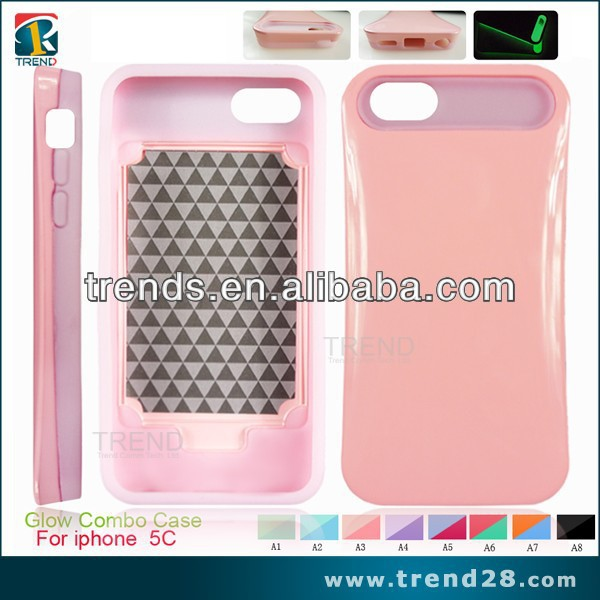 alibaba china cell phone cover for iphone 5c glow combo case