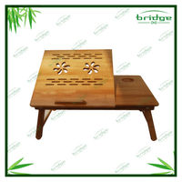 Bamboo laptop computer table