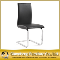 Modern black dining room chair