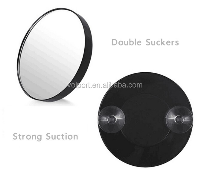 Fashion gift round 5X magnifying bathroom suction cup magnifying 5X makeup mirror