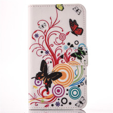 flowers butterfly cherry zebra retro phone case for Apple iPhone7 / 7Plus PU wallet phone shell for iphone 7 7 plus