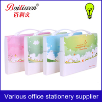 bags fashion stationery file decoration with school file